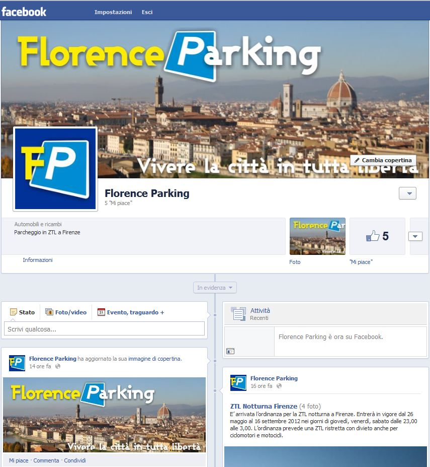 Florence Parking in Facebook