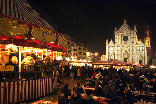 Christmas trade market in Florence
