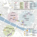 Mappa WineTown con parcheggi Florence Parking