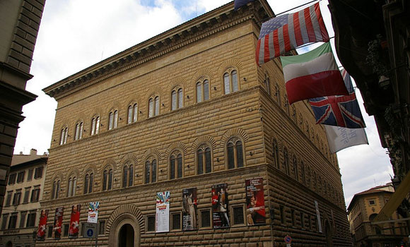Veduta di Palazzo Strozzi a Firenze - Florence Parking