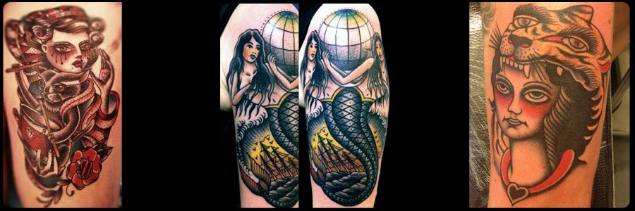 Alcuni tatuaggi eseguiti da maestri tatuatori