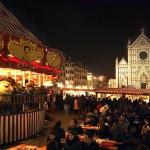 Mercatino di Natale in piazza Santa Croce