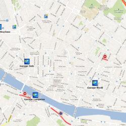 Mappa Garage Florence Parking e aggiornamento viabilità a Firenze