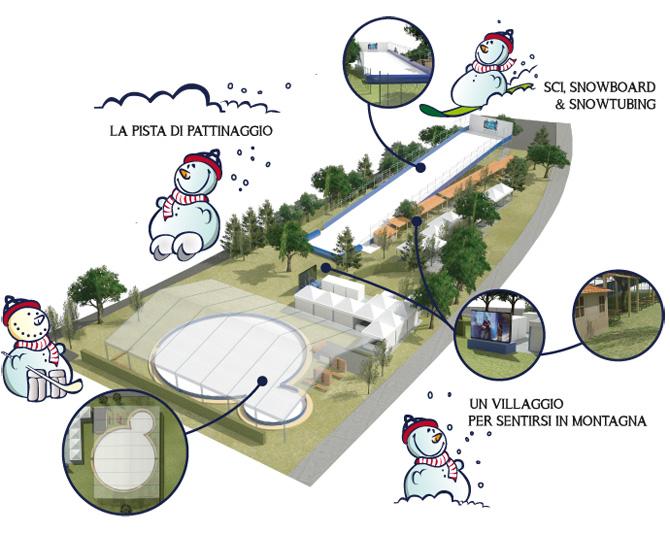 Mappa del parco Firenze Winter Park