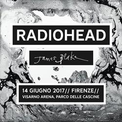 Radiohead in concerto alla Visarno Arena presso le Cascine di Firenze