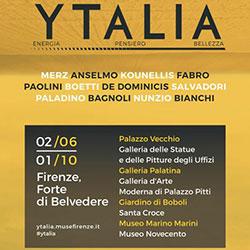 Ytalia, energia, pensiero e bellezza, l'arte contemporanea invade Firenze